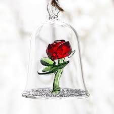 rose in glass h d crystal beauty and the beast enchanted red rose glass sculpture