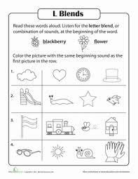 consonant sounds l blends worksheet education com