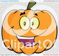 pumpkin no background cartoon of a happy smiling halloween pumpkin royalty free vector