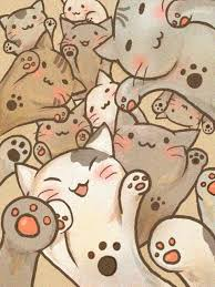 wallpaper cat illustration wave your paws in the air awww they re like anime cats anime