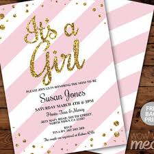 pink and gold baby shower invitations pink gold baby shower invitation gold from partyprintexpress on