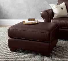 Pottery Barn Leather Couches Pb Comfort Leather Ottoman Leather Sofa Guide