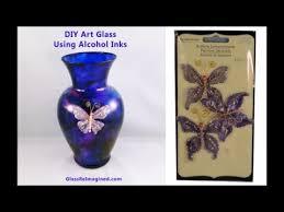 Glass Vase Art Diy Alcohol Ink Art Glass Vase Youtube