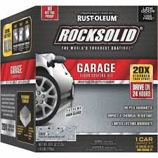 Garage Floor Snow Containment by Rust Oleum Rocksolid Garage Floor Coating Kit 60003 Do It Best