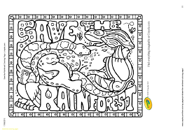 free coloring page of the rainforest new rainforest coloring pages to print with 18 9881 unknown