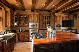 rustic beams cabinets custom wood products rustic kitchen