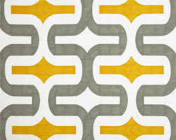 Yellow Valance Curtains Grey Yellow Valance Etsy