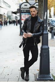 mens leather jackets black friday all black for men black on black inspiration