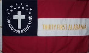 Flag With Four Red Stars 31st Alabama Infantry 36 00 Patriotic Flags Online Flag Store