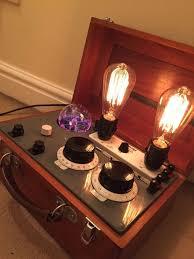 steunk vintage table floor light electrical test equipment