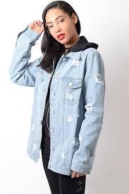 light distressed denim jacket stylish lightwash distressed oversized denim jacket stylish jackets