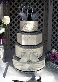 silver wedding cakes black white and silver buttercream wedding cake flickr