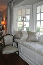 best 25 bay window drapes ideas on pinterest bay window curtain love the white bay window trim on the grey