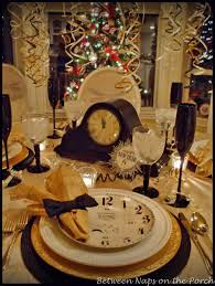 elegant new year u0027s eve table setting clocks gold and tablescapes