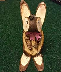 wooden animal garden ornaments made with wood logs co uk