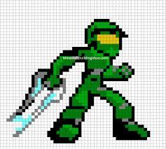 minecraft pixel art templates master chief