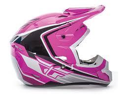 purple motocross helmet fly racing kinetic full speed helmet cycle gear