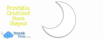 printable crescent moon template u2014 printable treats