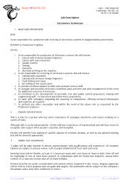 cover letter electronic assembly job description electro