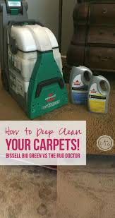 Doctor Rug How To Deep Clean Your Carpets Bissell Big Green Vs The Rug