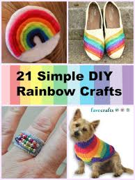 21 simple diy rainbow crafts for springtime favecrafts com