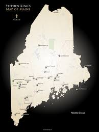 Map Of Maine Towns Castle Rock Stephen King