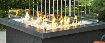 Glass Fire Pits glass guard for the pointe fire pit table fire accessories