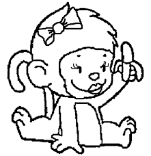awesome collection baby monkey coloring pages format