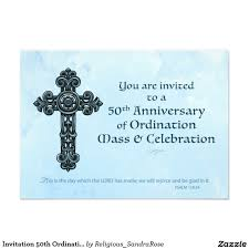 Invitation Card For Silver Jubilee Wedding Anniversary Invitation 50th Ordination Anniversary Priest Orn Priest And