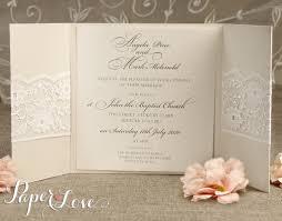 personalised gatefold laser cut wedding day evening invitations