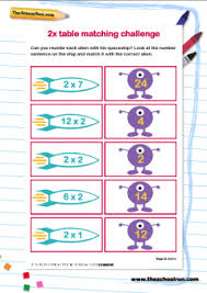 pictures on two times tables worksheets bridal catalog