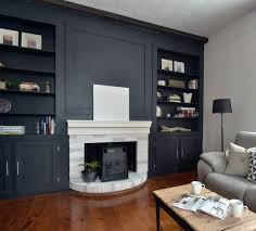Fireplace Mantels With Bookcases The Crux A U0027study U0027 In Diy With A Smoky Black Fireplace Surround