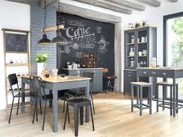 ardoise cuisine lesprit tableau noir en ardoise dans la cuisine joli place dacco