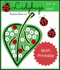 number recognition activity ladybugs on a leaf the measured mom