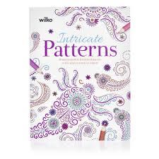 wilko intricate patterns colouring book at wilko com
