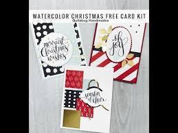 free card kit october club quitabug 2 stampin u0027 up watercolor