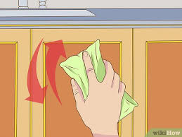 best way to clean greasy kitchen cupboards uk 3 ways to clean greasy kitchen cabinets wikihow
