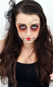 Porcelain Doll Halloween Costume Dress Horrible Temporary Doll Makeup Girls 2014 Halloween Face