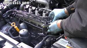 how to remove a diesel injector electrical loom youtube
