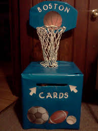 boy baby shower card box theme sports custom crafts pinterest