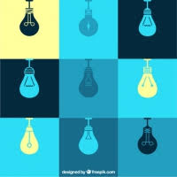 Flat Light Bulb Light Bulb Outline Free Vector Graphic Art Free Download Found