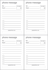 phone message free printable lists for taking phone messages