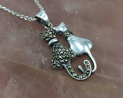 cat necklace silver images Cat necklace etsy jpg