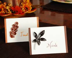 quilled fall leaf place cards fall thanksgiving craft dot