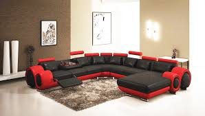 Sectionals Sofa Gemma Modern Black And Sectional Sofa Leather Sectionals