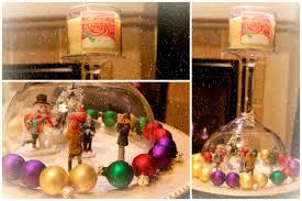 diy snow globe candle holder centerpiece craftychristmas video 5