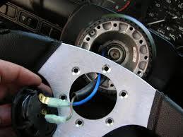 diy aftermarket steering wheel and hub install honda tech