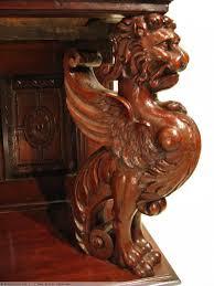 buffet ancien brocante dressoir aux lions époque henri ii vers 1570 anticstore