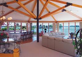Lakehouse Floor Plans Luxurious Open Style Floor Plan Lake House With Panoramic Views