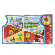 disney mickey mouse clubhouse time to play new clock book toys